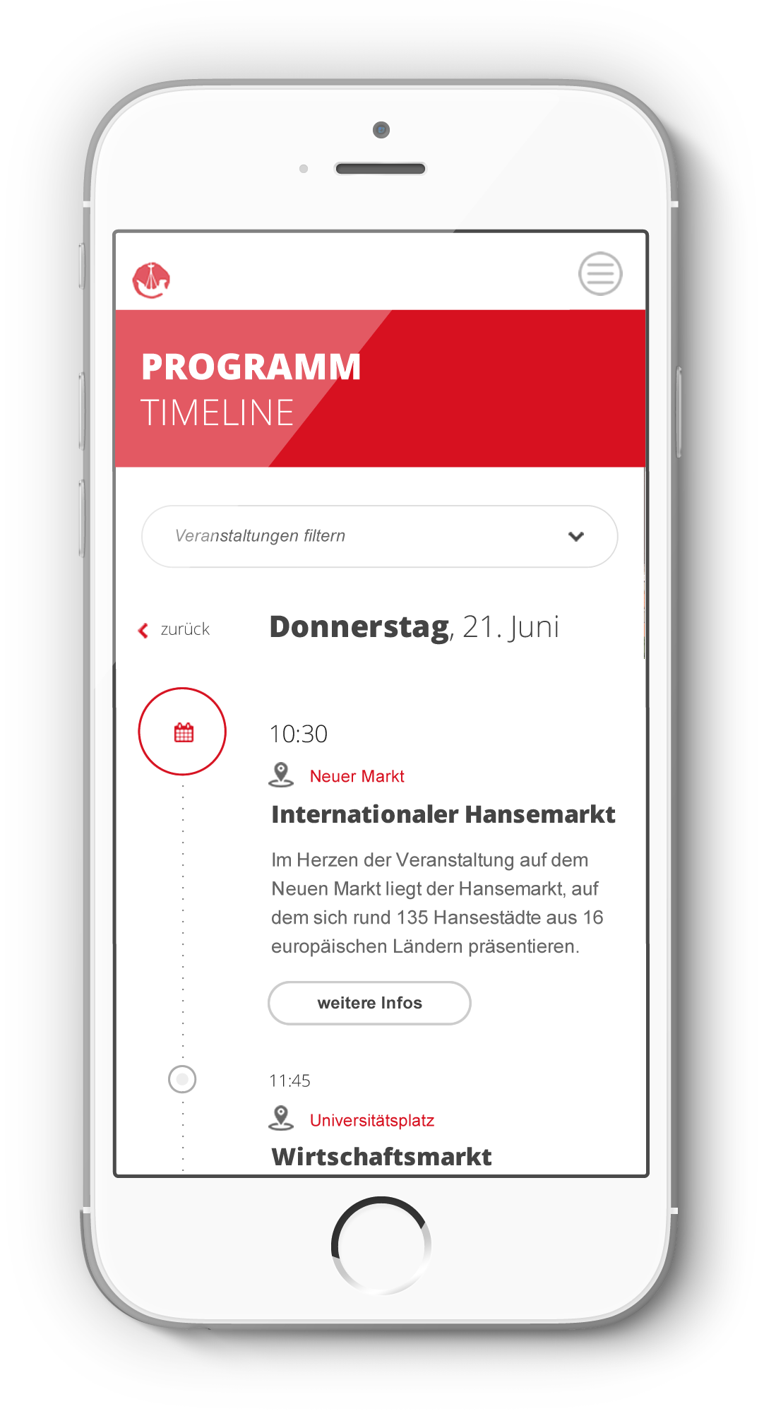 Programm Timeline