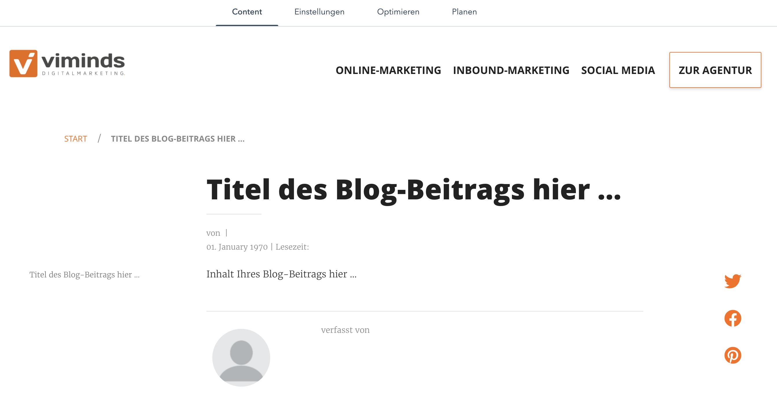 Blog-Artikel erstellen
