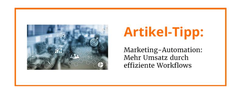 Artikel-Tipp: Was ist Marketing-Automation?