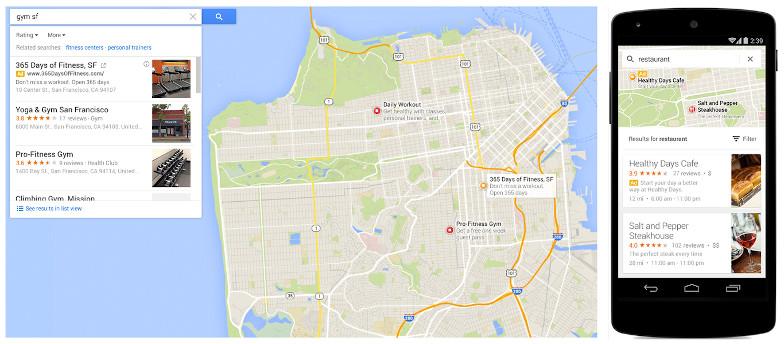 Mobile Advertising mit Google Maps