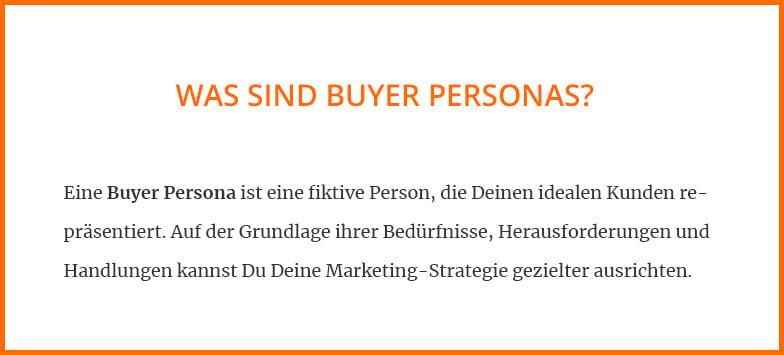Was sind Buyer Personas?