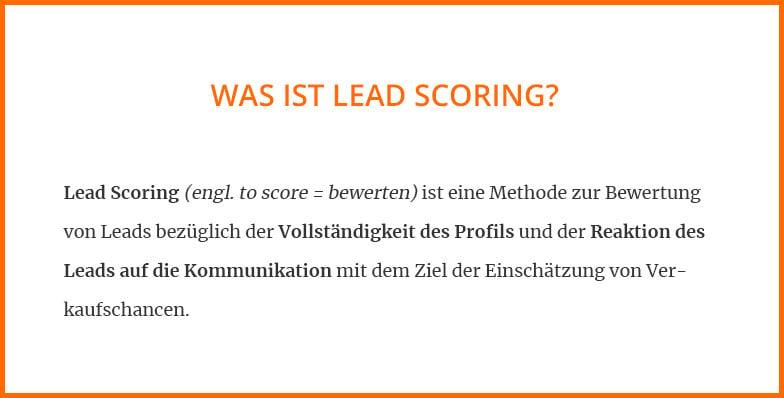Was ist Lead Scoring?