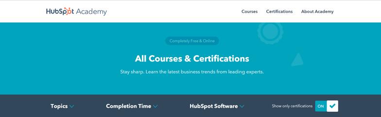 Weiterbildung im HubSpot-Learning-Center