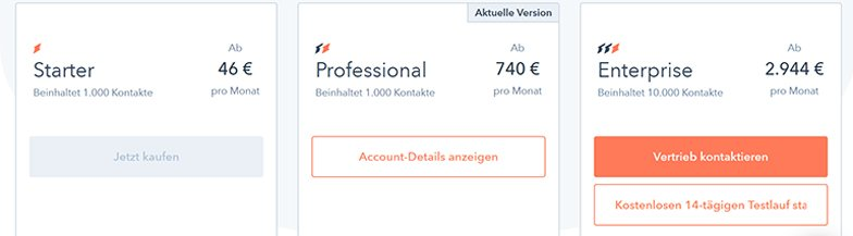 HubSpot Automation-Software Preise