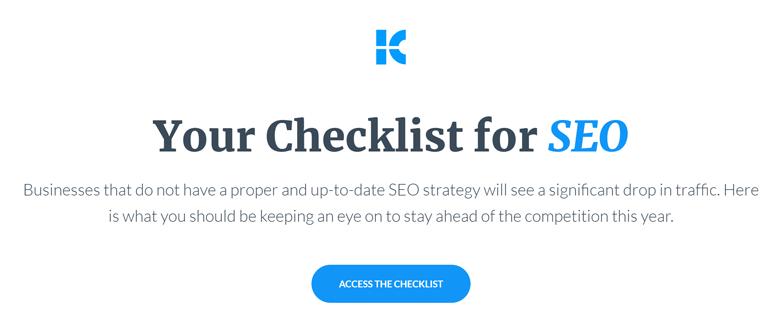 Biete Deinen Interessen eine Checkliste als Leadmagnet an.