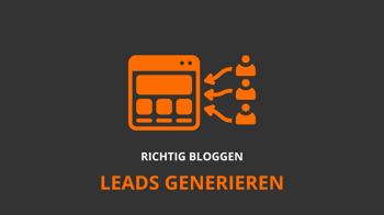 Leads generieren mit einem Blog