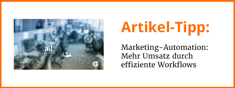 Artikel-Tipp Marketing-Automation