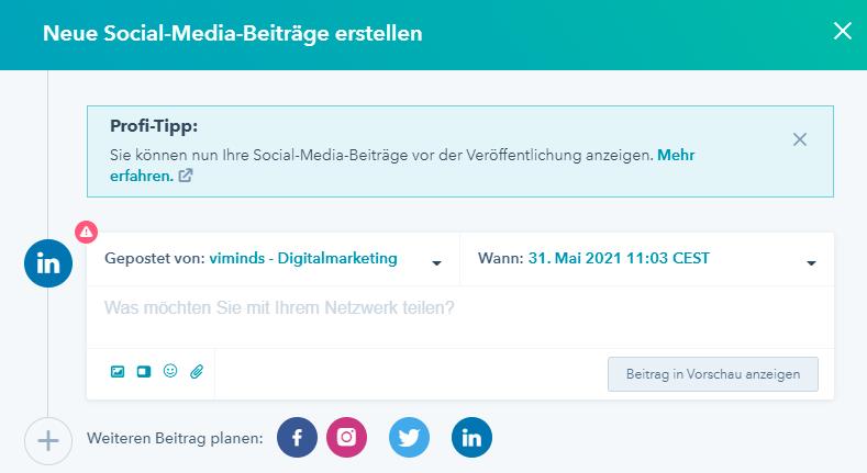 Social Media Hubspot