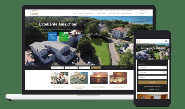 Beispiel für eine gute Hotel-Website