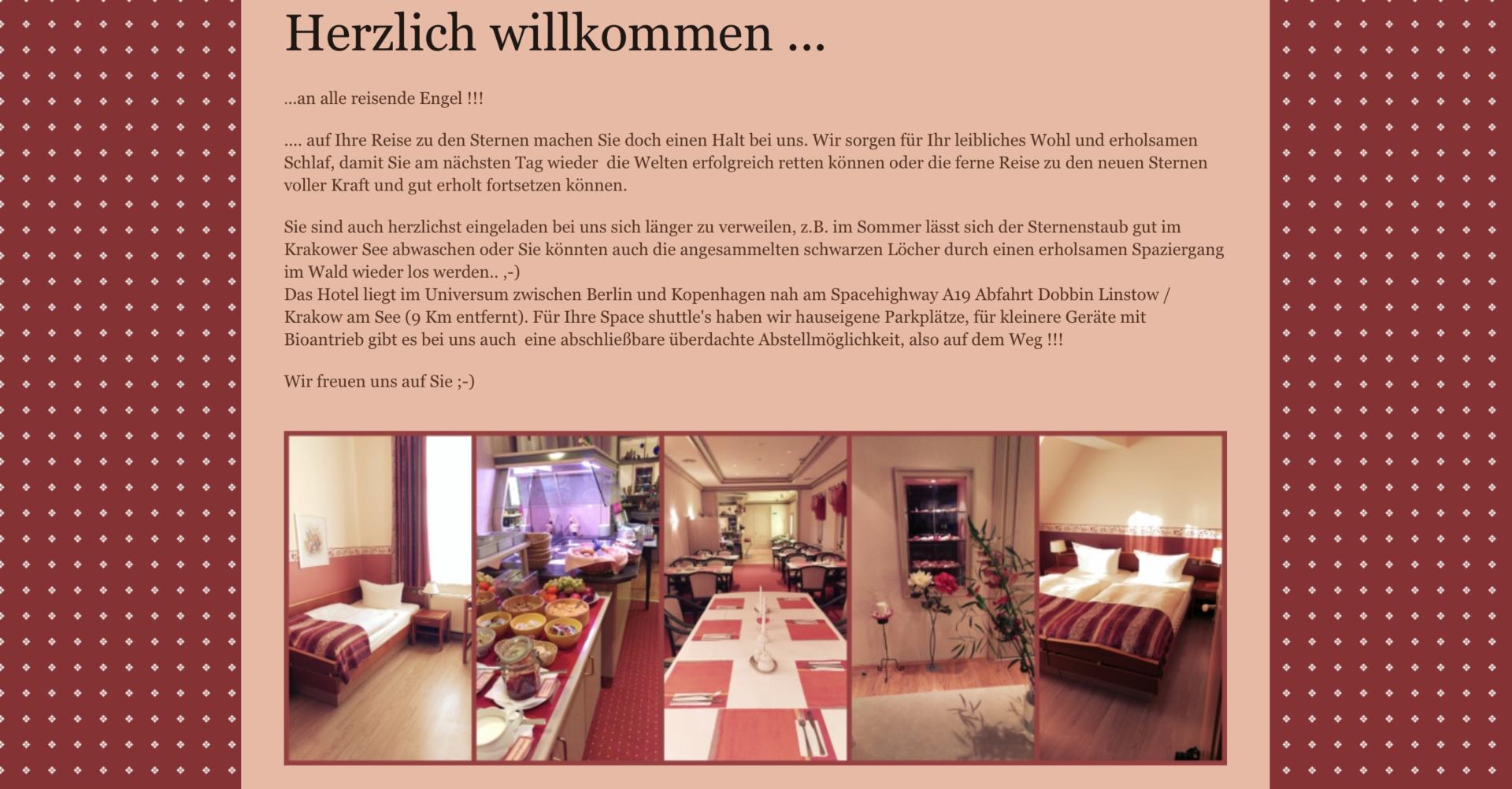 Nordischer Hof Startseite der Website