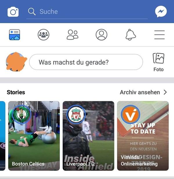 Facebook Story Beispiele