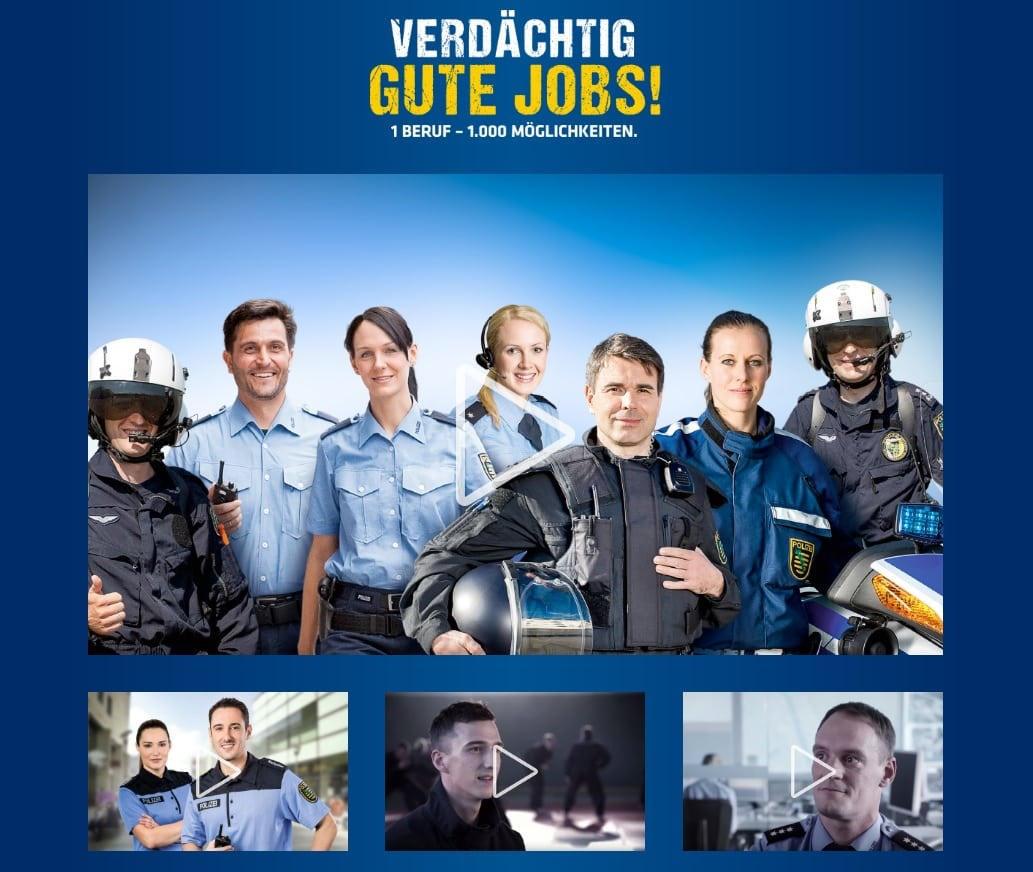 Die Website von Polizei Sachsen