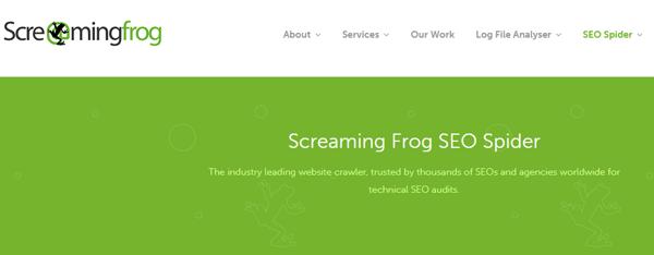 Startbildschirm von Screaming Frog