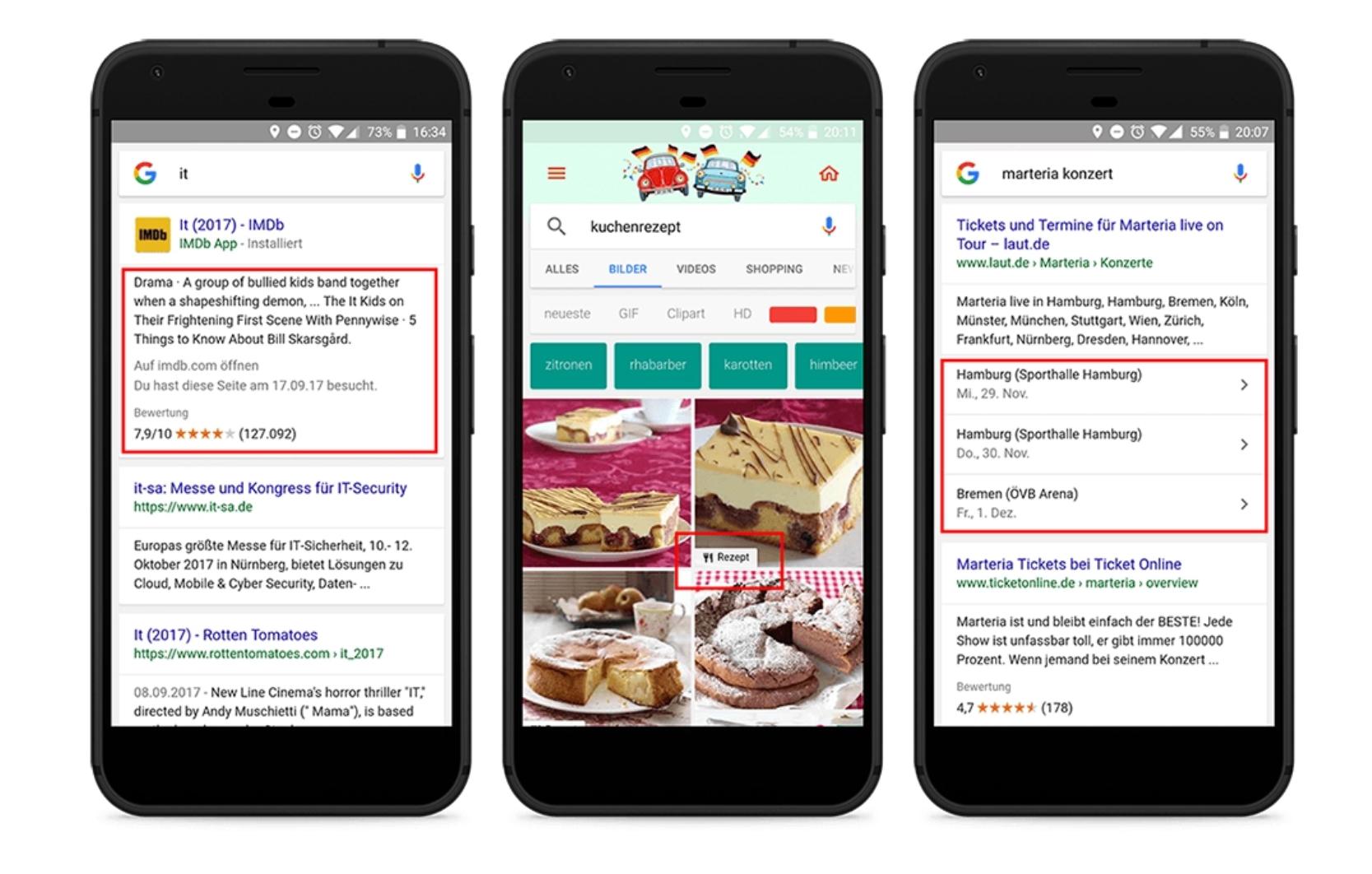 Beispiele für strategische Daten mobil