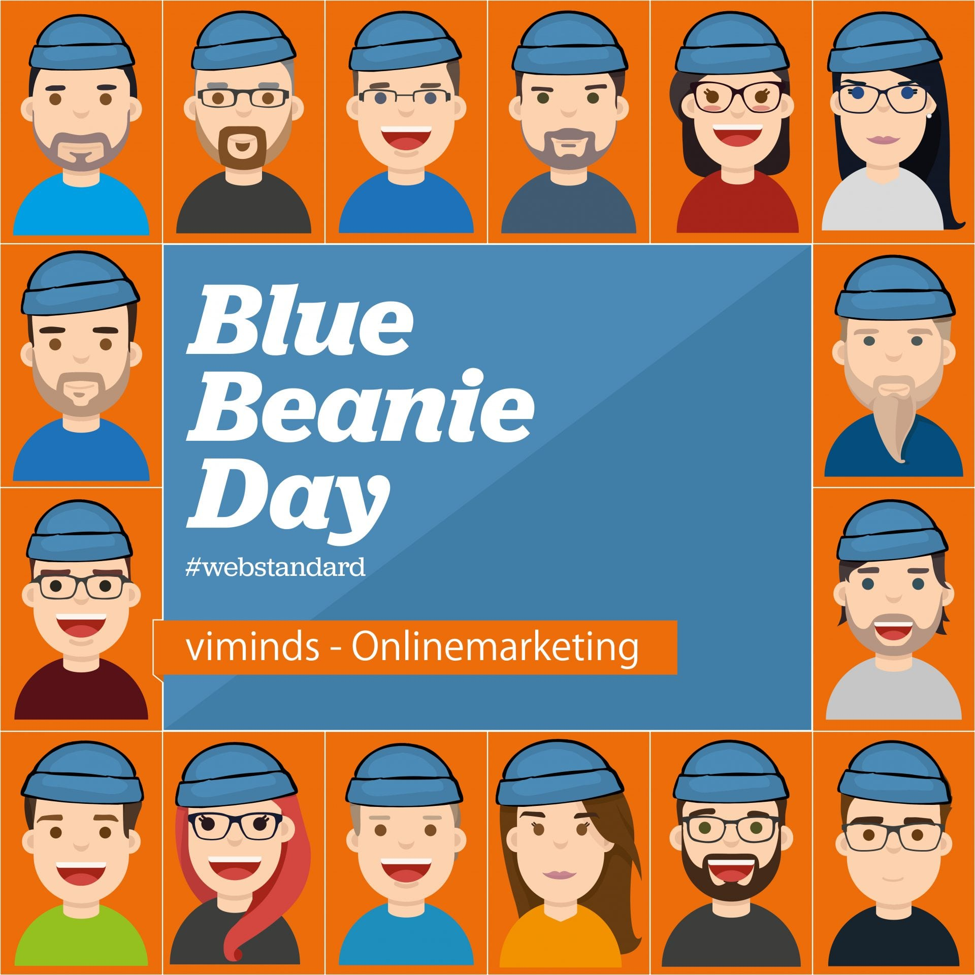Social Media Blue Beanie Day viminds
